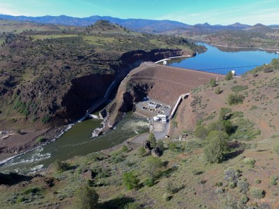 Iron Gate Dam, one of the four Klamath Dams to be removed.