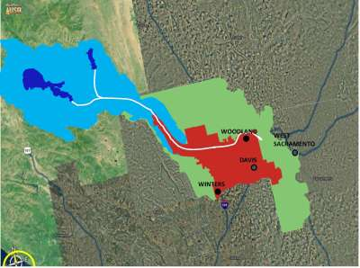 Yolo County Flood Control and Water Consrvation District service area