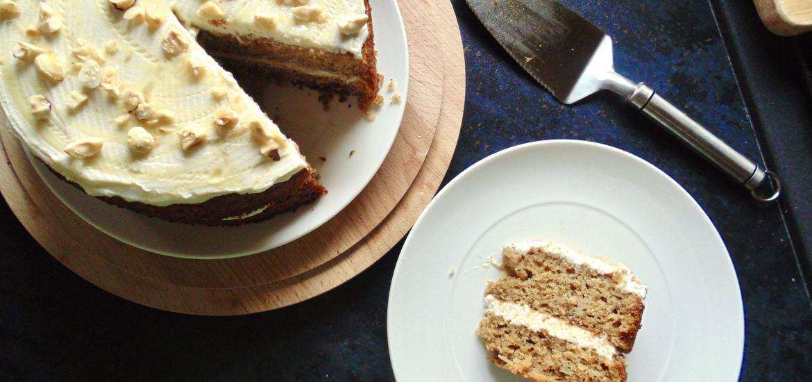 parsnip honey cake with lemon ricotta frosting