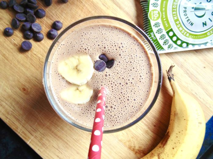 Chocolate Banana Protein Smoothie with Pulsin!