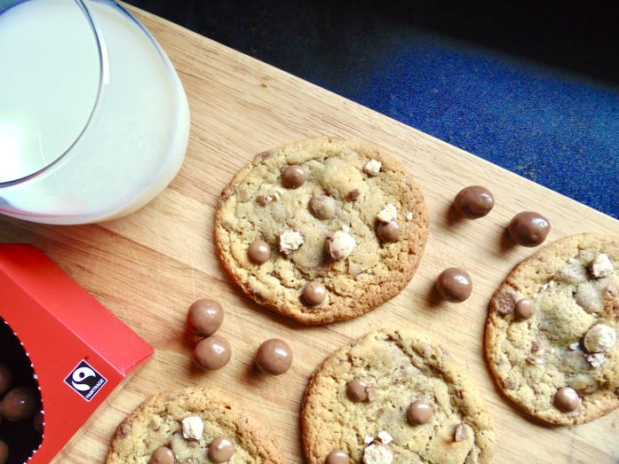chocolate chip malteser cookies