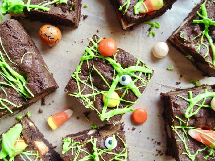 Chocolate Halloween Candy Cookie Bars!