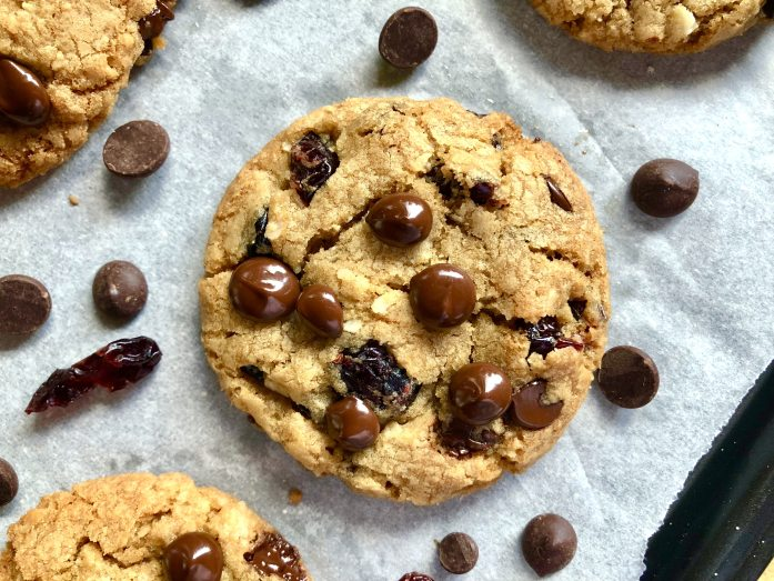 dairy free chocolate chip coconut cranberry cookies