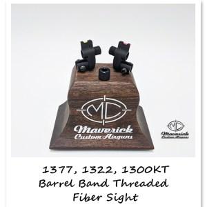 Crosman 1377, 1322 and Custom Shop 1300KT fiber sight barrel band adapter w/ threaded nose