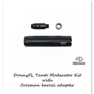 DonnyFL Airgun Moderator Tanto Kit with Barrel Adapter