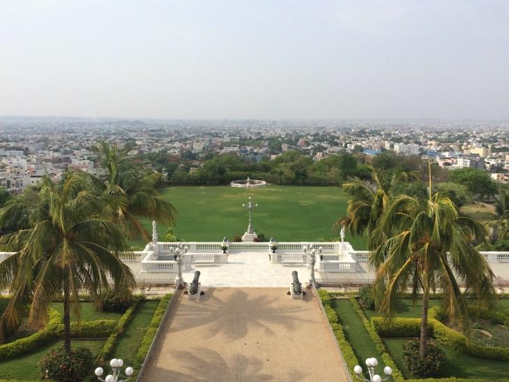 View from Falaknuma Palace