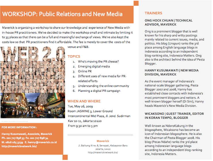 Public Relations Workshop Public Relations And New Media - Pesta In English Language, The Pesta Ahlander Agency