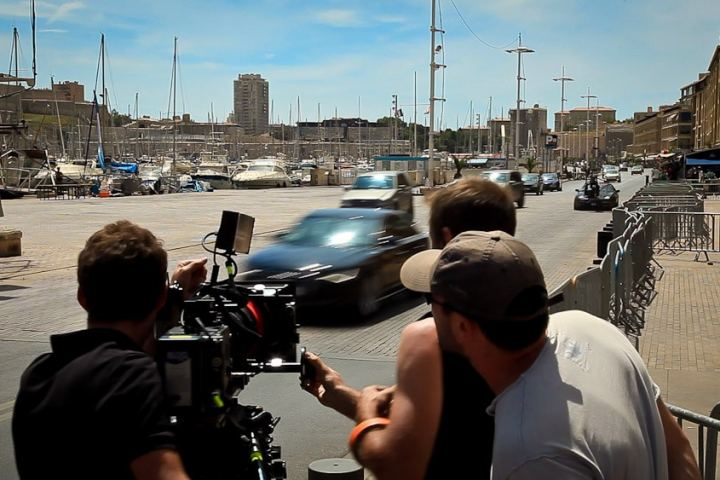 The Transporter - on set filming car scene