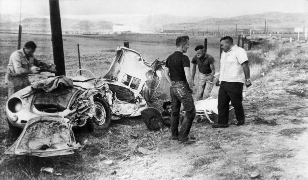 Image result for james dean crash