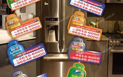 Sobre imã de geladeira colecionável