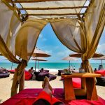 Plage la Bohemia Beach Club a Lamai Beach, Koh Samui.