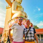 Bernie et David au Big Buddha a Koh Samui