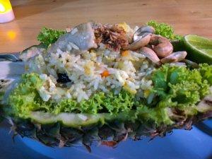 Riz frit seafood