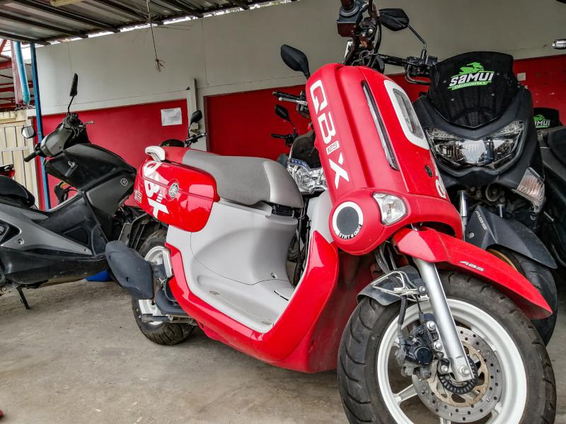 Location scooter QBIX Yamaha a Koh Samui