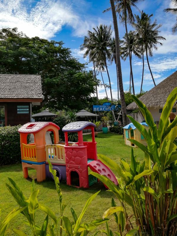 Aire de jeux pour les enfants au Shiva Samui Beach Club.