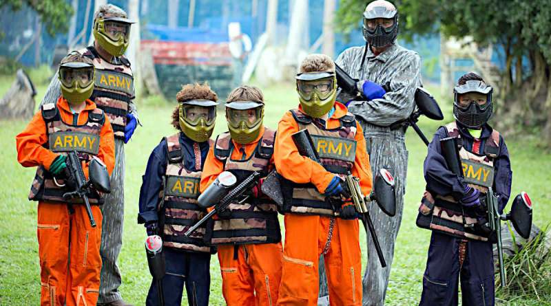 Equipe Samui Paintball Party