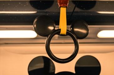 the mickey handrail - Sunny Bay to Disneyland station