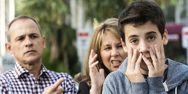 Teenage boy in troubles