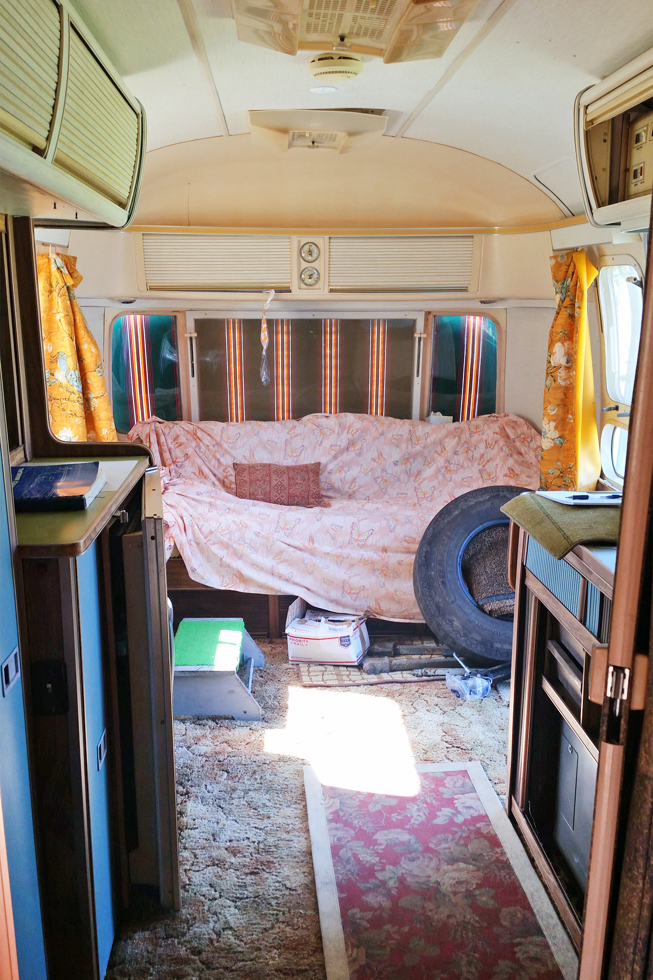Vintage Airstream Living Area Remodel