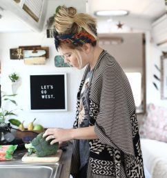 tiny house cooking preparing food in an airstream kitchen [ 1920 x 1280 Pixel ]