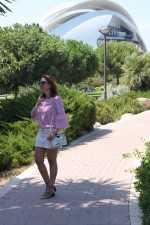 Camisa a Rayas con Perlas.