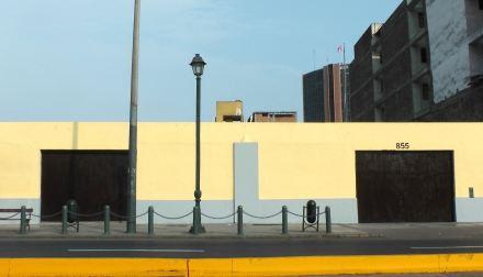 Acá estaba el mural de Túpac Katari hecho por Guache (Colombia). Foto: Raul Riebenbauer