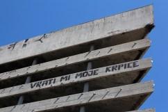 """Devuélveme mis parches"". Mostar, Bosnia & Herzegovina."