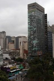 Vista del centro de São Paulo desde Galeria do Rock, Avenida São João.