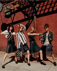 Jaden Smith modeling for Louis Vuitton's women spring-summer ad campaign. Image by Bruce Weber