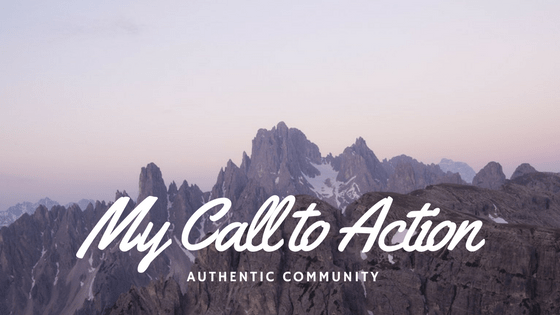 My Call to Action