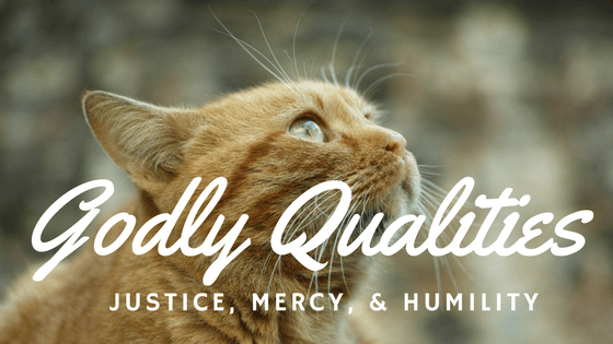 Godly Qualities, Justice Mercy & Humility