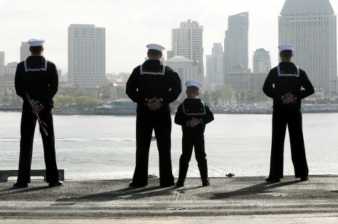 Sailors - a son imitating a father