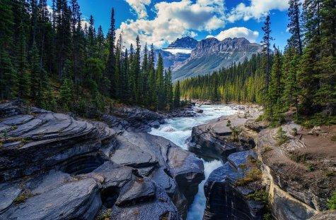 Mountain, Rock, River