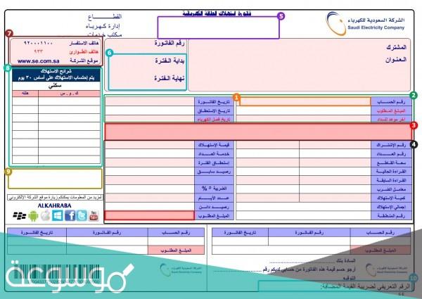 كيفية الاستفسار عن فاتورة الكهرباء الخدمات الالكترونية 1443