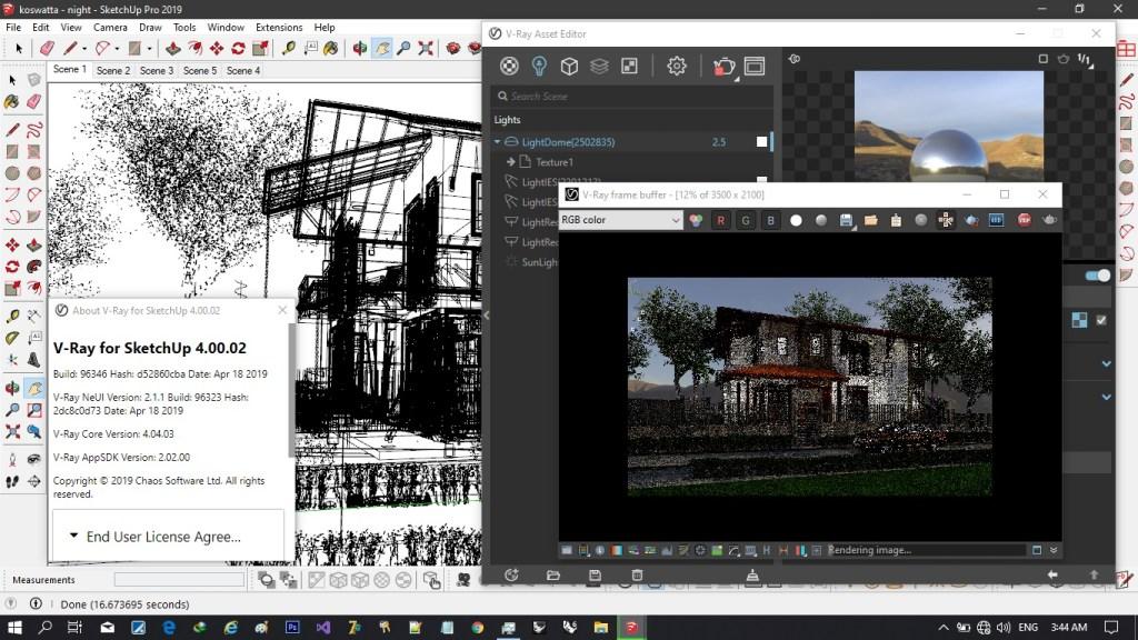 V-Ray 5 for SketchUp Screenshot