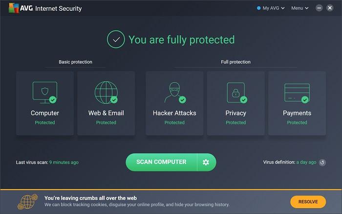 AVG Internet Security 2021 v20.10 [Full] ถาวร พร้อมคีย์แท้ถึง 2040
