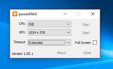 CPUID powerMAX 1.00.1 [Full] เบิร์นเทส CPU (burn-in test)