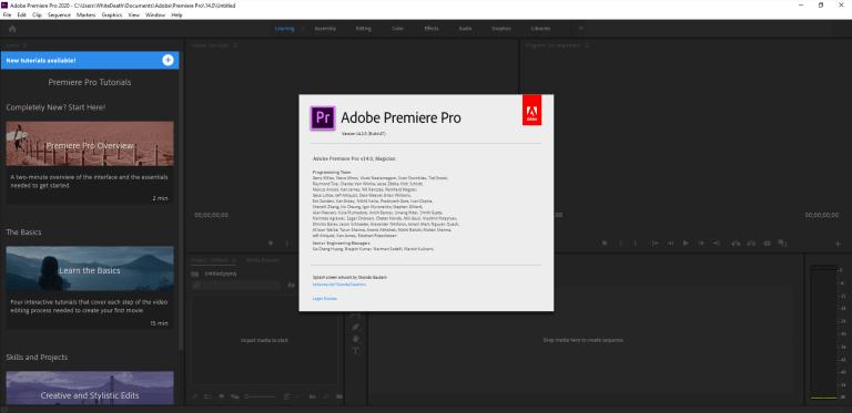 Premiere Pro 2020 Screenshot
