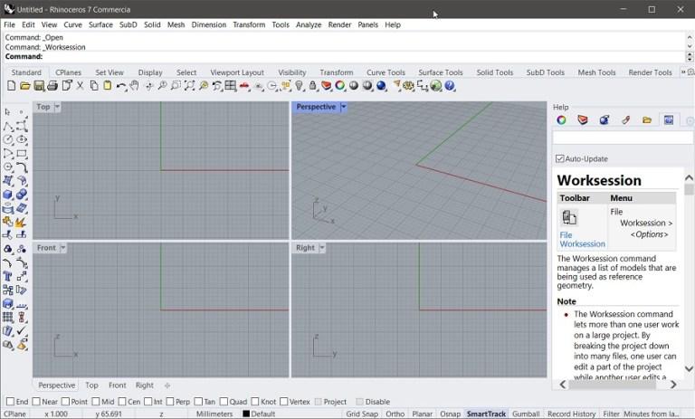 Rhinoceros 7 (Rhino 7) Screenshot