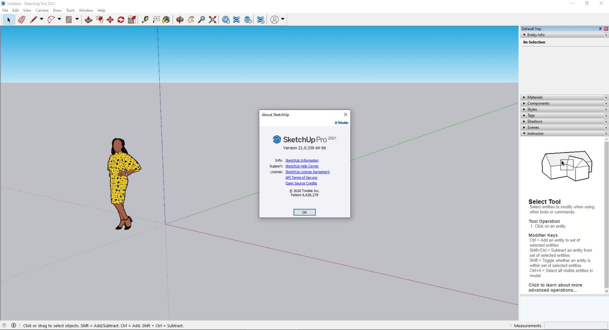SketchUp Pro 2021 Screenshot