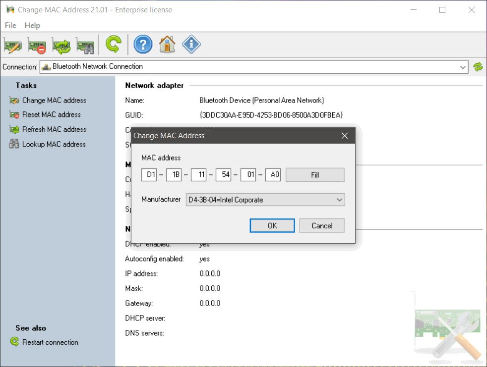 Lizardsystems Change Mac Address 21 Screenshot