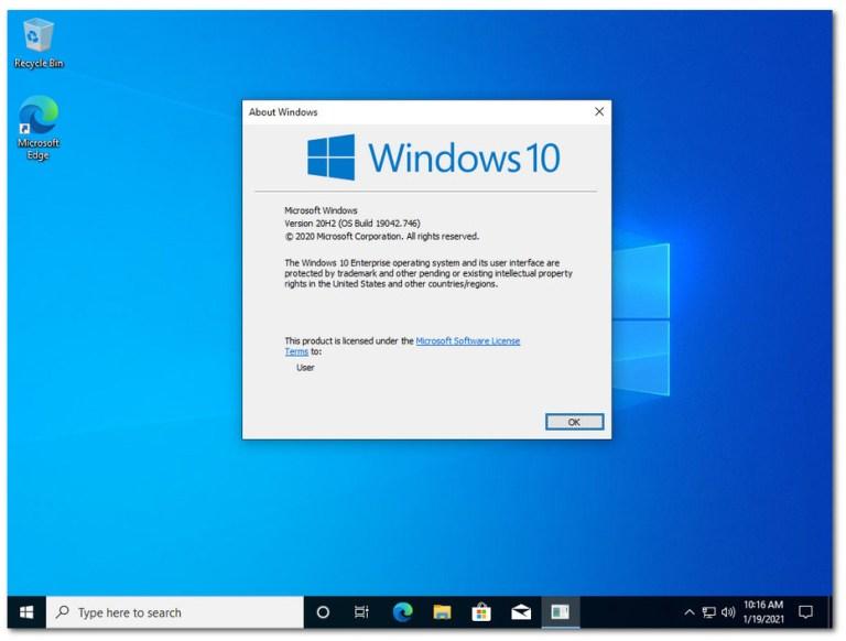 windows 10 enterprise Screenshot