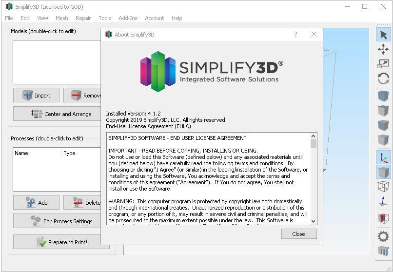 Simplify3D 4 Screenshot