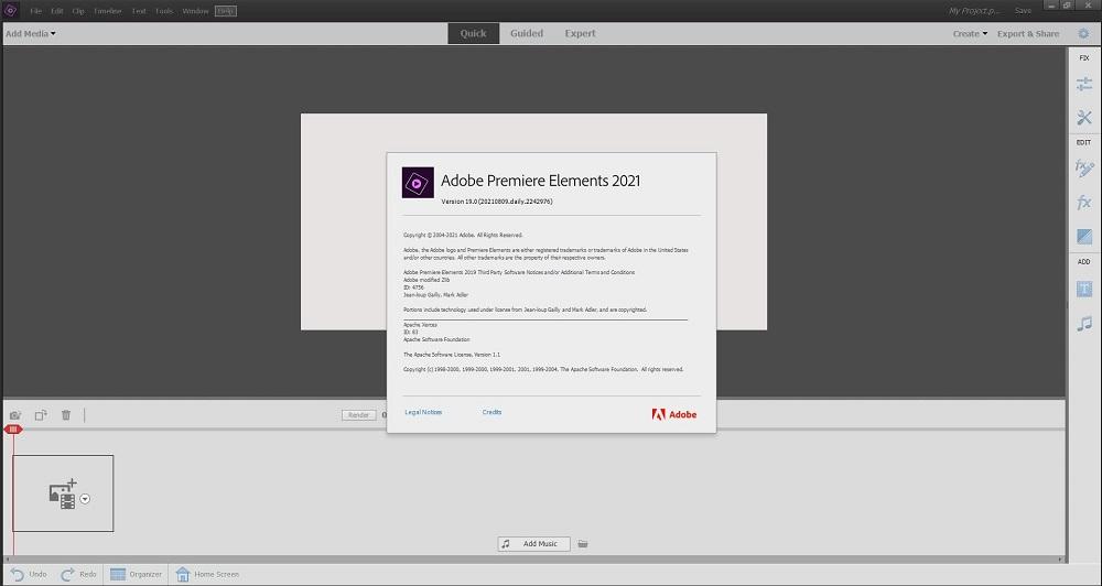 Adobe Premiere-Elements 2021 screenshot