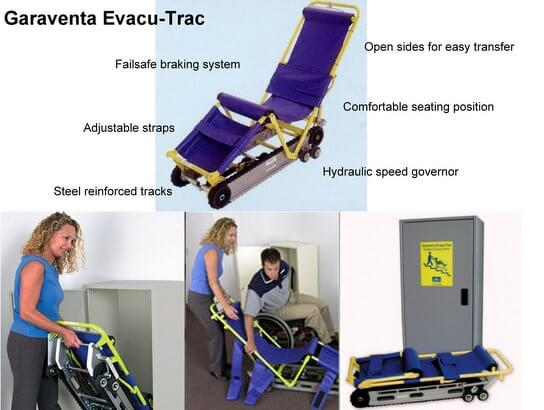 evac chair canada wood folding table and chairs set evacu trac evacuation specifications max ability inc highlights