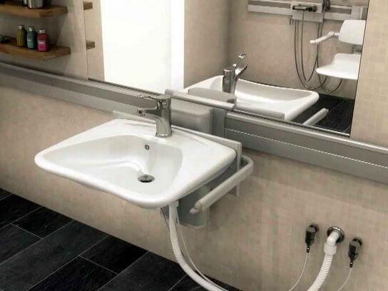 Pressalit Care Adjustable Sink Pneumatic Mode