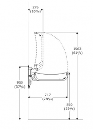adult changing table side view dimensions