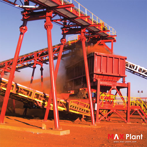 MAX Plant ground feed bin iron ore mining project