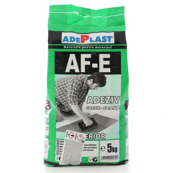 Adeziv pentru gresie si faianta ADEPLAST AF-E gri, 5 kg, pentru exterior