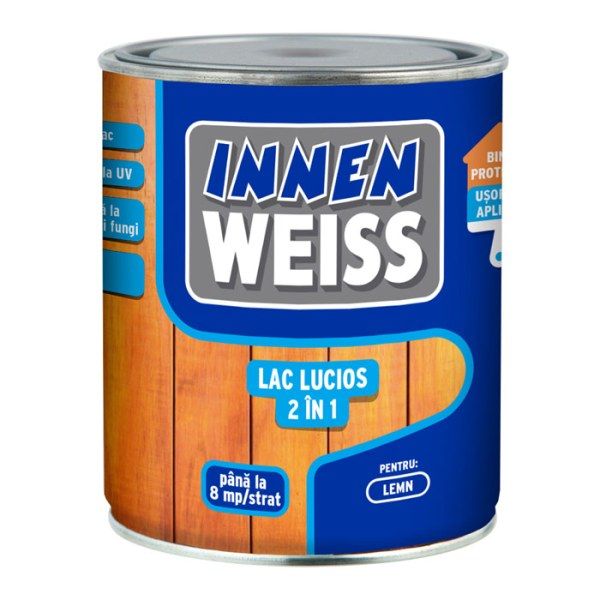 InnenWeiss-lac-lucios-2-in-1-pentru-lemn
